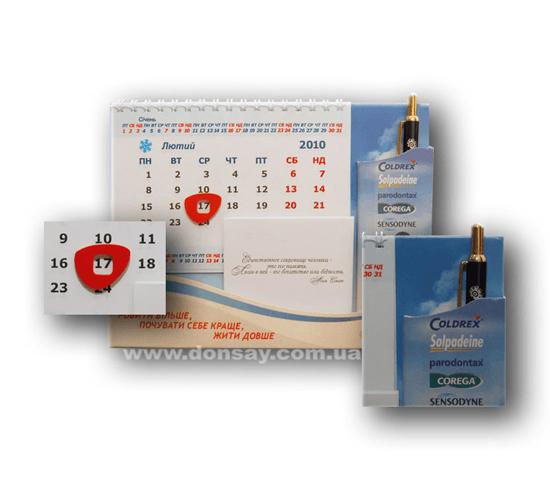 Настольный календарь подставка с магнитным курсором