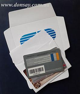Конверт для банковских карточек