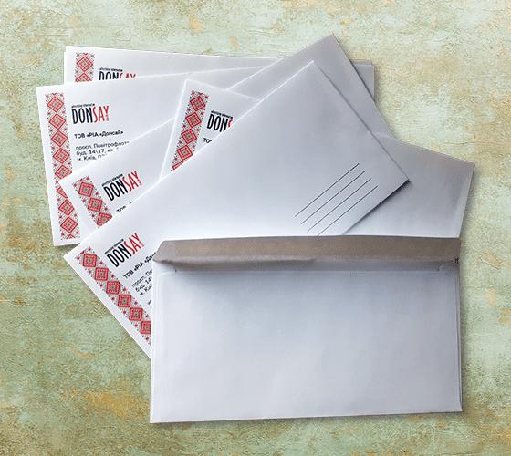 печать на почтовых конвертах