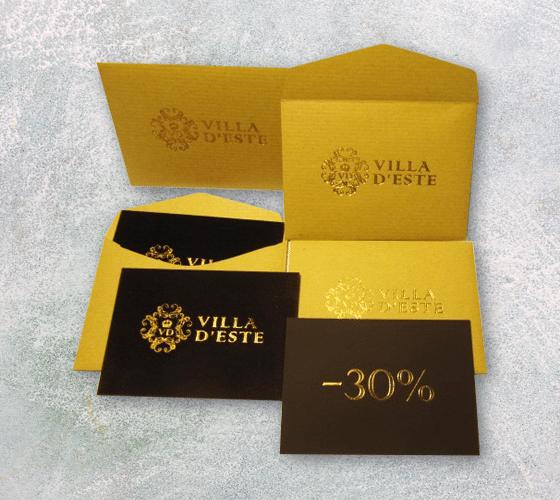 конверты для подарочных сертификатов