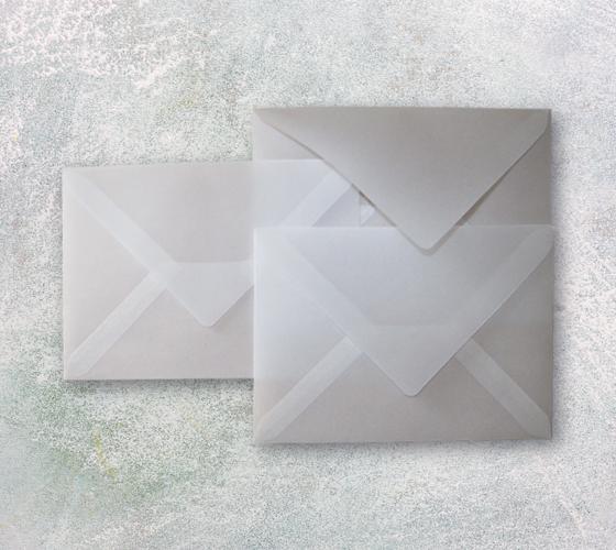 конверты из кальки